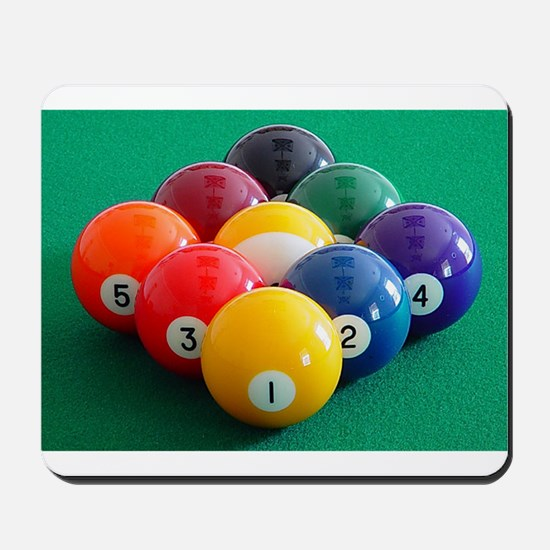 9 Ball Rack Mousepad