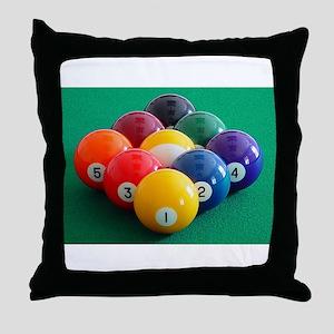9 Ball Rack Throw Pillow