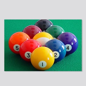 9 Ball Rack Postcards (Package of 8)