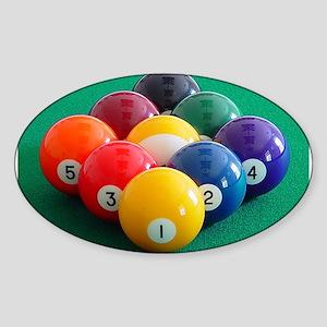 9 Ball Rack Oval Sticker