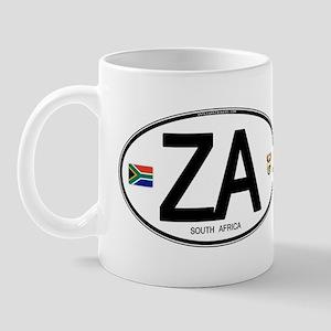 South Africa Euro-style Code Mug