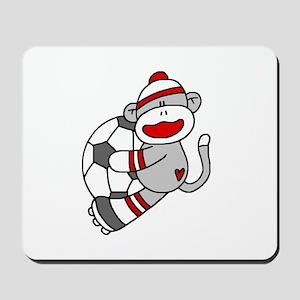 Sock Monkey Soccer Mousepad