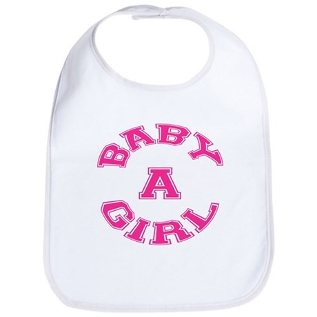Multiple Baby Girl Baby A Announcement Bib