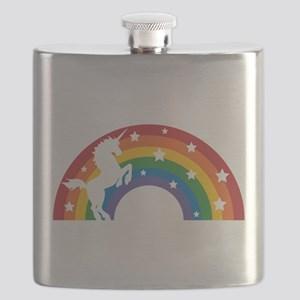 Retro Rainbow Unicorn Flask