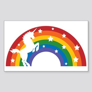 Retro Rainbow Unicorn Sticker