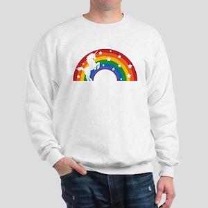 Retro Rainbow Unicorn Sweatshirt