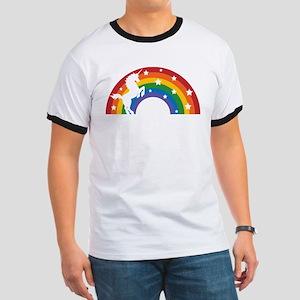 Retro Rainbow Unicorn T-Shirt