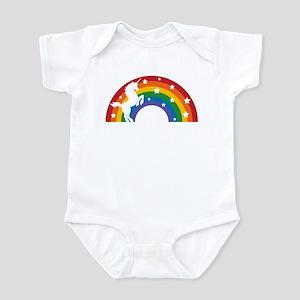 Retro Rainbow Unicorn Body Suit