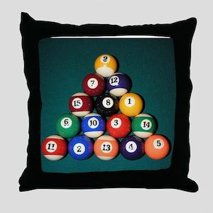 8 Ball Rack Throw Pillow