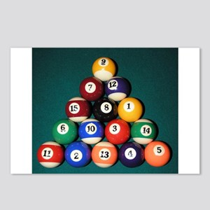 8 Ball Rack Postcards (Package of 8)