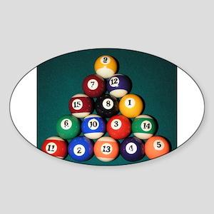 8 Ball Rack Oval Sticker