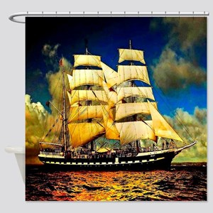 Schooner Shower Curtain
