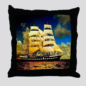 Schooner Throw Pillow