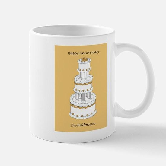 Halloween Wedding Anniversary Mugs