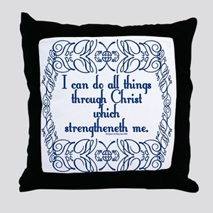 Philippians 4:13 The Word Throw Pillow