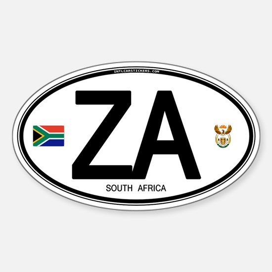 South Africa Euro-style Code Oval Decal