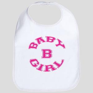 Multiple Baby Girl Baby B Announcement Bib