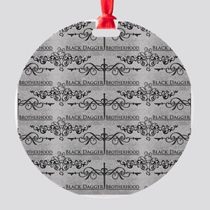 Black Dagger Brotherhood Round Ornament