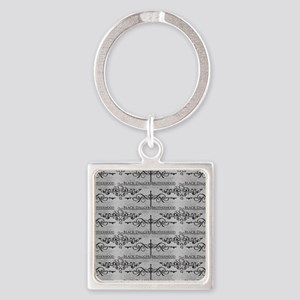 Black Dagger Brotherhood Square Keychain