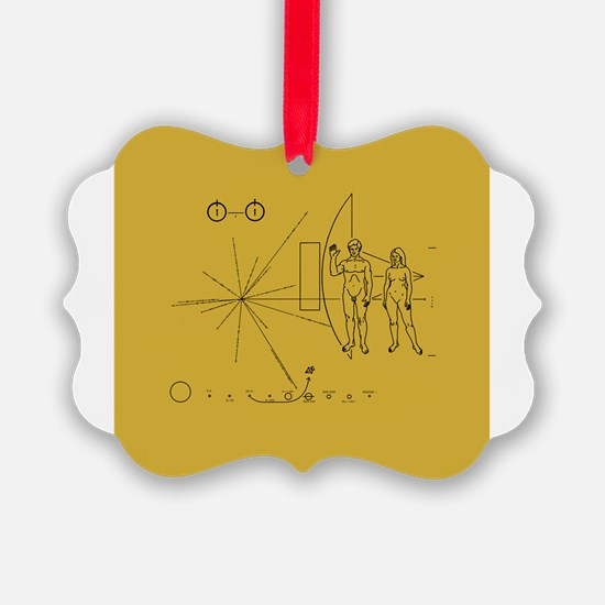 Pioneer Space Plaque Ornament