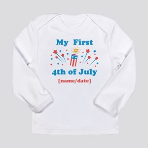 My First 4th of July Personalized Long Sleeve T-Sh