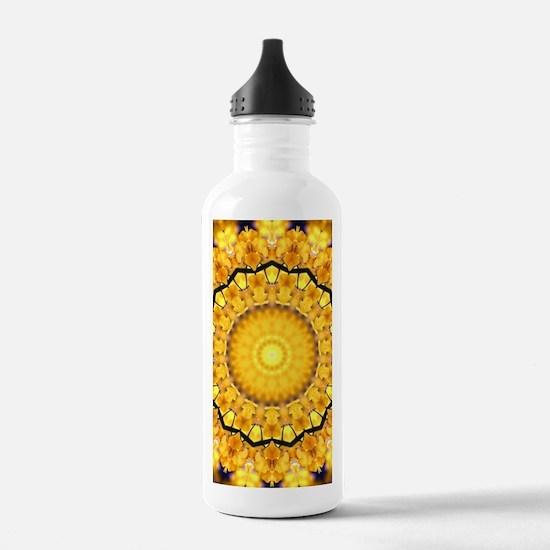 Golden Petal Mandala Kaleidoscope Sports Water Bot