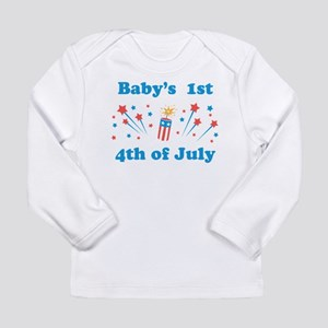 Babys 1st 4th of July Long Sleeve T-Shirt