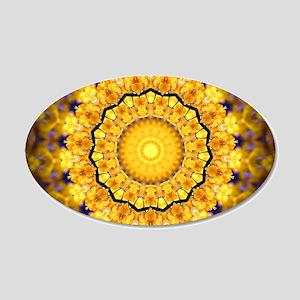 Golden Petal Mandala Kaleidoscope Wall Sticker