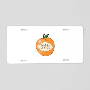 Peach Pie Aluminum License Plate