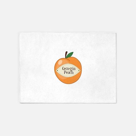 Georgia Peach 5'x7'Area Rug