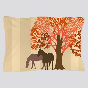 Autumn Equestrian Horses Pillow Case
