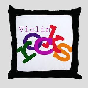 Violin Rocks Throw Pillow