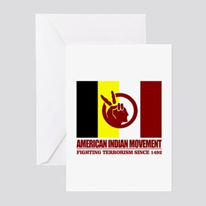 American indian movement greeting cards cafepress aim fighting terrorism since 1492 greeting cards m4hsunfo