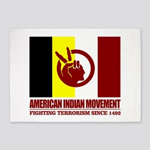 AIM (Fighting Terrorism Since 1492) 5'x7'Area Rug