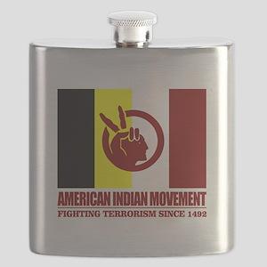 AIM (Fighting Terrorism Since 1492) Flask