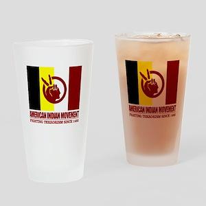 AIM (Fighting Terrorism Since 1492) Drinking Glass