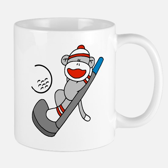 Sock Monkey Golf Mug