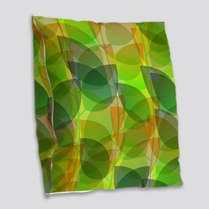 Modern Holographic Abstract Leaf Burlap Throw Pill