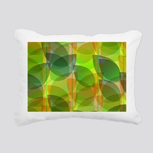 Modern Holographic Abstract Leaf Rectangular Canva