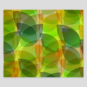 Modern Holographic Abstract Leaf King Duvet