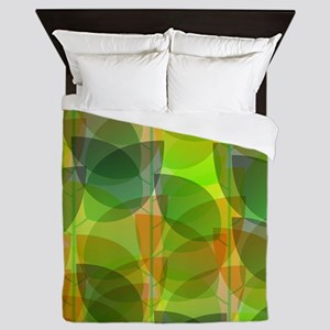 Modern Holographic Abstract Leaf Queen Duvet