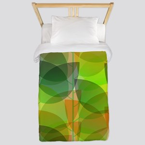 Modern Holographic Abstract Leaf Twin Duvet