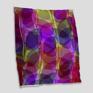 Modern Purple Holographic Abstract Leaf Burlap Thr