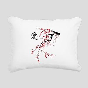 Cherry Blossom Rectangular Canvas Pillow