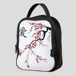 Cherry Blossom Neoprene Lunch Bag