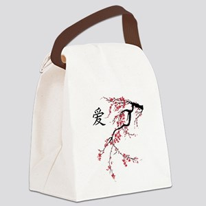 Cherry Blossom Canvas Lunch Bag