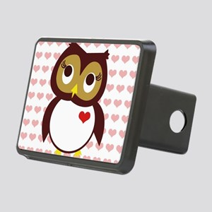Whoo Loves You w/ Hearts Rectangular Hitch Cover