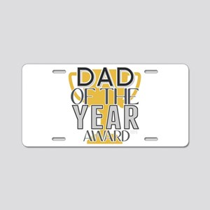 Dad of the Year Aluminum License Plate