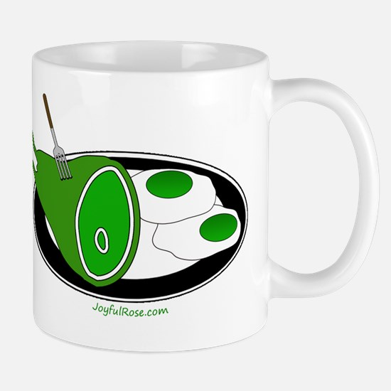 Green Ham and 2 Eggs Mugs