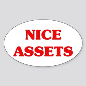 Nice Assets Oval Sticker